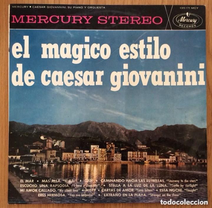 CAESAR GIOVANNINI EL MAGICO ESTILO DE... EDIC ESPAÑA MERCURY 1964 (Música - Discos - LP Vinilo - Pop - Rock Internacional de los 50 y 60)