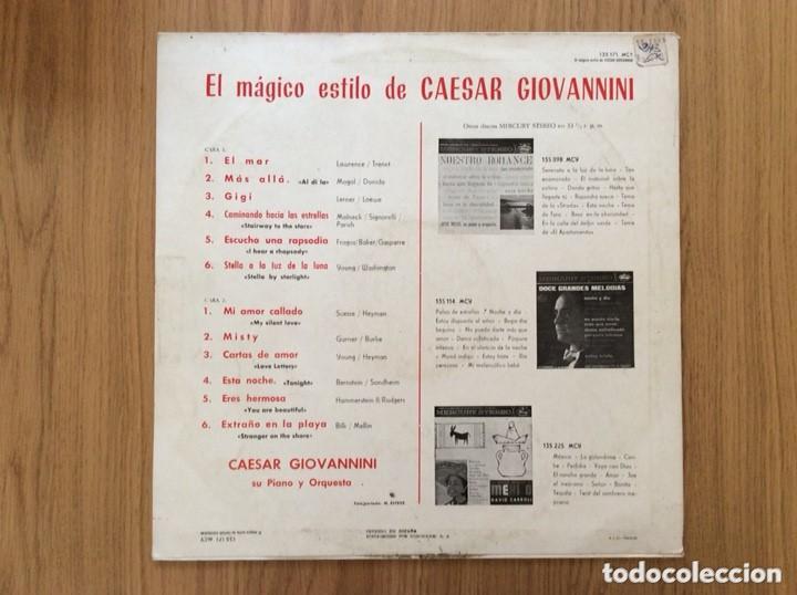 Discos de vinilo: CAESAR GIOVANNINI EL MAGICO ESTILO DE... EDIC ESPAÑA MERCURY 1964 - Foto 2 - 156795858