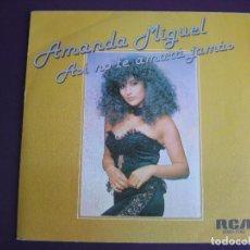 Discos de vinilo: AMANDA MIGUEL SG RCA PROMO 1981 - ASÍ NO TE AMARÁ JAMÁS +1 - ARGENTINA POP TELEVISION. Lote 156797974