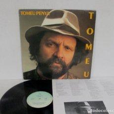 Discos de vinilo: TOMEU PENYA - TOMEU / PLOU - LP - BLAU 1987 SPAIN A-029 CON LETRAS. Lote 156803842