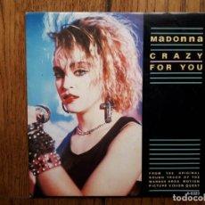 Discos de vinilo: MADONNA - CRAZY FOR YOU + SAMMY HAGAR - I´LL FALL IN LOVE AGAIN . Lote 156807286