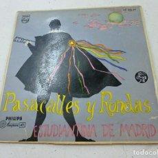 Discos de vinilo: PASACALLES Y RONDALLAS -ESTUDIANTINA DE NADRID - EP - N. Lote 254577770
