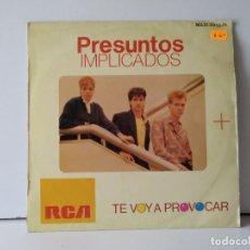 Discos de vinilo: PRESUNTOS IMPLICADOS . Lote 156812026