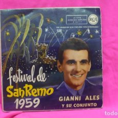 Discos de vinilo: FESTIVAL DE SAN REMO, 1959, PHILIPS. . Lote 156821486