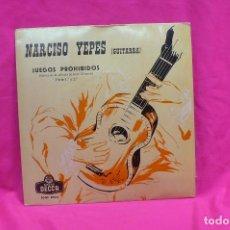 Discos de vinilo: NARCISO YEPES -- JUEGOS PROHIBIDOS, DECCA, 1963.. Lote 156825406