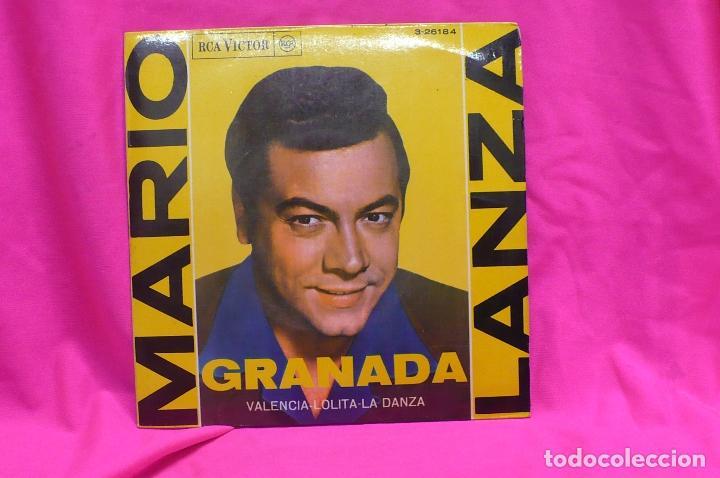 MARIO LANZA - GRANADA, VALENCIA, LOLITA, LA DANZA, RCA VICTOR, 1962. (Música - Discos de Vinilo - EPs - Clásica, Ópera, Zarzuela y Marchas)