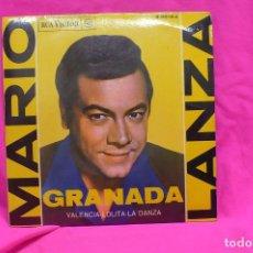 Discos de vinilo: MARIO LANZA - GRANADA, VALENCIA, LOLITA, LA DANZA, RCA VICTOR, 1962.. Lote 156831534