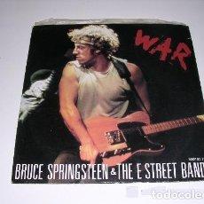 Discos de vinilo: BRUCE SPRINGSTEEN. SINGLE 45 RPM. EE. WAR +MERRY CHRISTMAS BABY. Lote 156832334