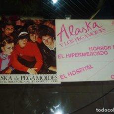 Discos de vinilo: ALASKA Y PEGAMOIDES EP HORROR EN HIPERMERCADO + PÓSTER PUNK SPAIN. Lote 156835178