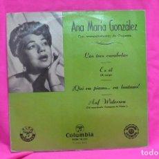 Discos de vinilo: ,ANA MARIA GONZALEZ - LAS TRES CARABELAS / ES EL / QUI VA PIANO VA LONTANO / AUF WIDERSEN, COLUMBIA.. Lote 156835906