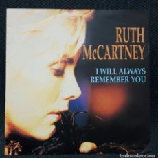 Discos de vinilo: RUTH MCCARTNEY - BEATLES - PRIMA DE PAUL MCCARTNEY - I WILL ALWAYS REMEMBER YOU - SINGLE - ALEMANIA. Lote 156838938