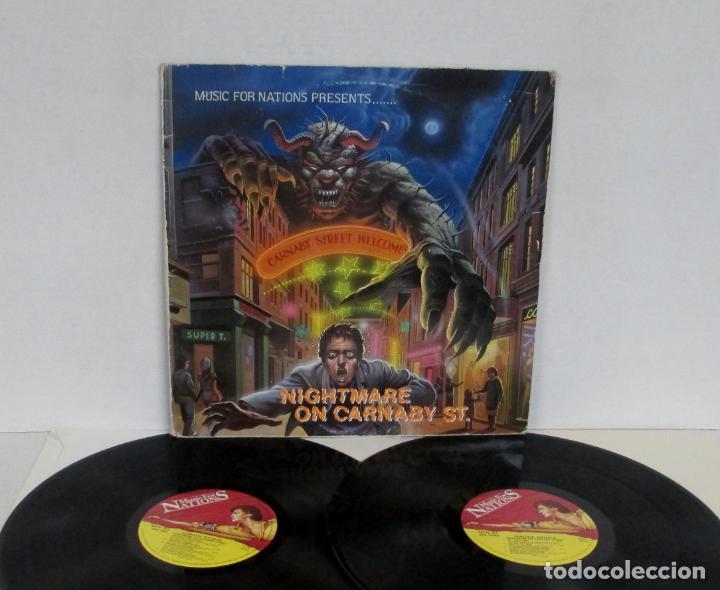 NIGHTMARE ON CARNABY ST STREET -2 LP- EXODUS HELLION WILD DOGS TIGERTAILZ STRYPER CREEK RIO Q.5. (Música - Discos - LP Vinilo - Heavy - Metal)
