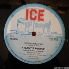 Discos de vinilo: ATLANTIS PEOPLE, THE COACH HOUSE RHYTM SECTION - STORMY WEATHER. MUY DIFICIL. Lote 156856497