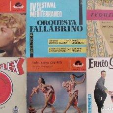 Discos de vinilo: LOTE 6 EP´S Y SINGLES. ENNIO SANGIUSTO - HORST WENDE - PATRICIA - ORQUESTAS. DISCOFLEX.. Lote 156862934