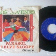 Discos de vinilo: LOS JOVENES - PARASOL / VUELVE SLOOPY - SINGLE 1966 - DISCOPHON. Lote 156870094