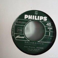 Discos de vinilo: JEAN PIERRE HUSER SALAMALECS/ PUISSIONS-NOUS ETRE AUTREMENT CHANSON ORIGINAL FRANCIA 1966 NM RARO. Lote 156870398