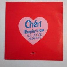 Discos de vinilo: CHERI. MURPHY'S LAW. LA LEY DE MURPHY. MAXI-SINGLE. TDKDA38. Lote 156872626