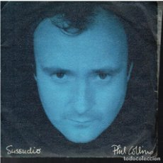 Discos de vinilo: PHIL COLLINS - SUSSUDIO / THE MAN WITH THE HORN - SINGLE 1985. Lote 156873254