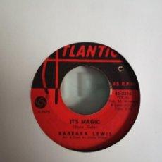 Discos de vinilo: BARBARA LEWIS IT'S MAGIC/ DON'T FORGET ABOUT ME SOUL ORIGINAL USA 1965 VG. Lote 156873522