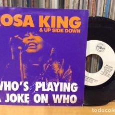 Discos de vinilo: ROSA KING WHO´S PLAYING A JOKE ON WHO + 1 SINGLE METROPOL 1988 @ COMO NUEVO. Lote 156873762