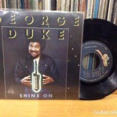 Discos de vinilo: GEORGE DUKE SHINE ON + 1 SINGLE CBS 1982 @ COMO NUEVO. Lote 156874546