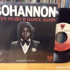 Discos de vinilo: HAMILTON BOHANNON LETS START II DANCE AGAIN + 1 SINGLE VICTORIA 1982 @ COMO NUEVO. Lote 156874790