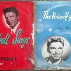 Discos de vinilo: GUY MITCHELL. SINGS. COLUMBIA 33S1028/ THE VOICE OF YOUR CHOICE. PHILIPS BBR.803. (2 LP 10''). Lote 156875258