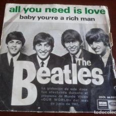 Discos de vinilo: BEATLES - ALL YOU NEED IS LOVE - SINGLE. Lote 156877842