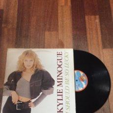 "Discos de vinilo: KYLIE MINOGUE - I SHOULD BE SO LUCKY 12"" MAXI. Lote 156878313"
