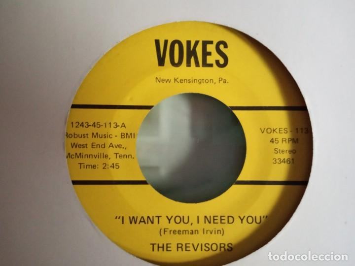 THE REVISORS HIGH ON THE MOUNTAIN / I WANT YOU I NEED YOU R'N'R COUNTRY ORIGINAL USA 1974 VG+ (Música - Discos - Singles Vinilo - Country y Folk)