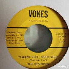 Discos de vinilo: THE REVISORS HIGH ON THE MOUNTAIN / I WANT YOU I NEED YOU R'N'R COUNTRY ORIGINAL USA 1974 VG+. Lote 156879014