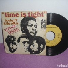 Discos de vinilo: BOOKER T. AND THE MG'S - TIME IS TIGHT + JOHHNY, I LOVE YOU / STAX - AÑO 1969. Lote 156879578
