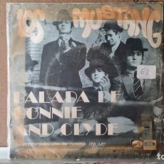 Discos de vinilo: ** LOS MUSTANG - BALADA DE BONNIE AND CLYDE - SG AÑO 1968 - LEER DESCRIPCION. Lote 156880314