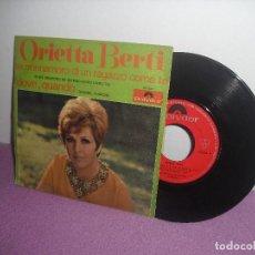 Discos de vinilo: ORIETTA BERTI - SE M'INNAMORO DI UN RAGAZZO COME TE + DOVE, QUANDO / POLYDOR - AÑO 1969. Lote 156880822