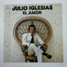 Discos de vinilo: JULIO IGLESIAS. - EL AMOR. LP. TDKDA38. Lote 156883442
