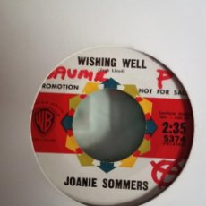 Discos de vinilo: JOANIE SOMMERS WISHING WELL/ LITTLE GIRL BAD 60'S POP ORIGINAL USA 1963 NM. Lote 156883574
