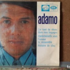 Discos de vinilo: ** ADAMO - J'AI TANT DE RÊVES DANS MES BAGAGES + 3 - EP AÑO 1968 - PROMO - LEER DESCRIPCION. Lote 156886578