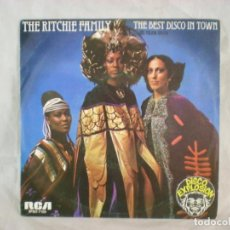 Discos de vinilo: RITCHIE FAMILY, THE – THE BEST DISCO IN TOWN SPBO-7105 SPAIN 1976. Lote 156895962