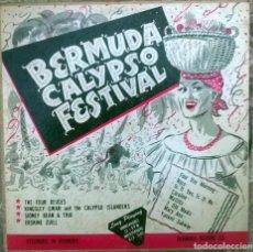 Discos de vinilo: KINGSLEY SWAN, ERSKINE ZUILL, SIDNEY BEAN, FOUR DEUCES. BERMUDA CALYPSO FESTIVAL. LP 10'' BLP-2000. Lote 156900482