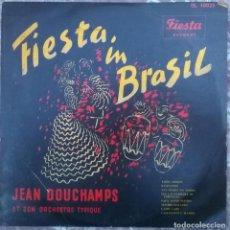Discos de vinilo: JEAN DOUCHAMPS ET SON ORCHESTRE TYPIQUE. FIESTA IN BRASIL. FIESTA, BELGIUM 1955 LP 10'' (IS 10025). Lote 156902690