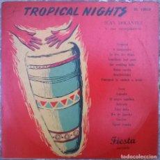 Discos de vinilo: JUAN DOCANTEZ Y SUS COMPANEROS. TROPICAL NIGHTS. FIESTA, BELGIUM 1954 LP 10'' (IS 10010). Lote 156903174