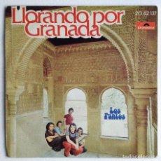 Discos de vinilo: LOS PUNTOS LLORANDO POR GRANADA. Lote 156907382