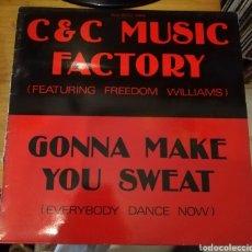 Discos de vinilo: C&C MUSIC FACTORY - GONNA MAKE YOU SWEAT. Lote 156912420