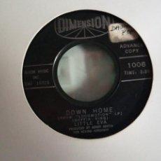 Discos de vinilo: LITTLE EVA DOWN HOME / LET'S TURKEY TROT R'N'B SOUL ORIGINAL USA 1963 VG+. Lote 156913426