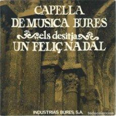 Discos de vinilo: CAPELLA DE MUSICA BURES, NADAL LLUM I MISTERI. PAX 1970 -GATEFOLD-. Lote 156914514