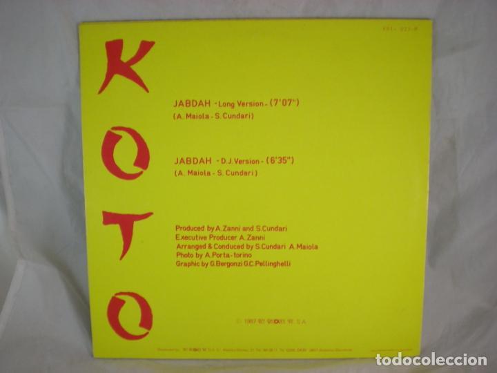 Discos de vinilo: Koto - Jabdah - Key Records Int. - KRI-023-M - SPAIN - Foto 2 - 156915946