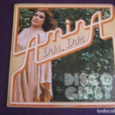 Discos de vinilo: AMINA SG HISPAVOX 1979 DIKI DIKI/ AMANECIO - RUMBA ARABE - RUMBA DISCO - JESUS GLUCK. Lote 156917618
