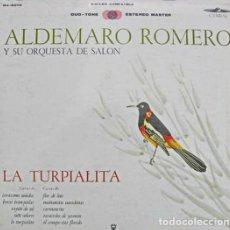Discos de vinilo: ALDEMARO ROMERO Y SU ORQUESTA DE SALON - LA TURPIALITA - CYMBAL 5010 - 1967 - EDICIÓN VENEZOLANA. Lote 156919678
