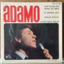 Discos de vinilo: ** ADAMO - LES FILLES DU BORD DE MER + 3 - EP AÑO 1964 - MADE IN FRANCE - LEER DESCRIPCION. Lote 156929262