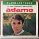Discos de vinilo: ** ADAMO - QUAND LES ROSES + 3 - EP AÑO 1964 - LEER DESCRIPCION . Lote 156929342
